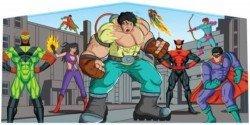 Super Hero Theme Banner